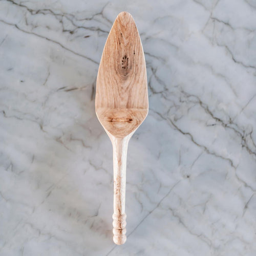 Hand Carved Wooden Pie Server-Kitchen-Jabulani Creations