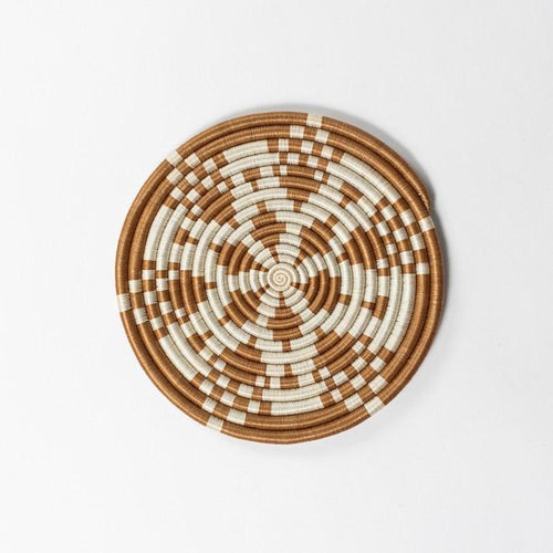 Rwandan Handwoven Trivets-Baskets-Azizi Life-Kaleidoscope - Tea-Jabulani Creations
