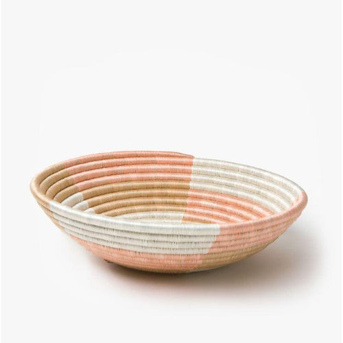 Staccato Woven Basket-Baskets-Azizi Life-Medium-Blush-Jabulani Creations