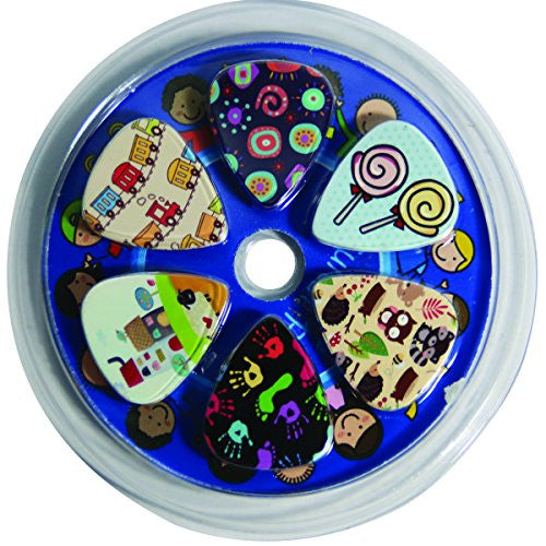 Cute Guitar Picks for Kids Boys and Girls - Medium Gauge Size - Celluloid - 12-pack