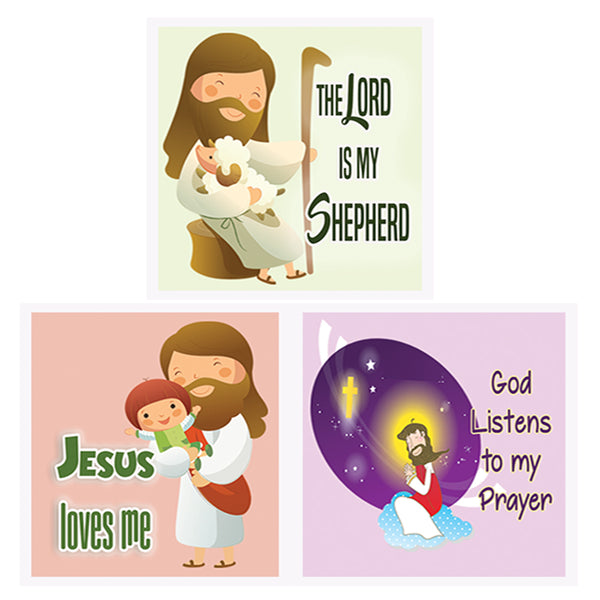 Children Christian God Is Love Affirmation Stickers - 20 Sheets