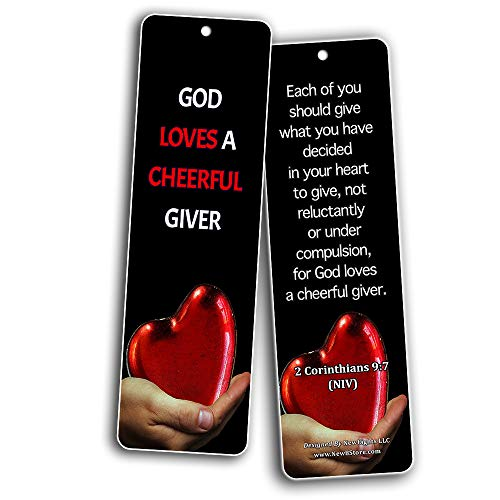 Bible Verses About Stewardship Bookmarks (60 Pack) - Perfect Giveaways for Sunday School and Ministries