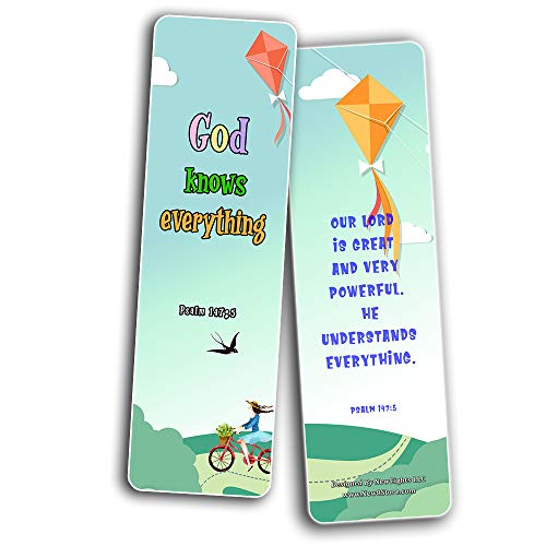 Bible Bookmarks for Kids - God is Great (30 Pack) - Well Designed for Kids - Stocking Stuffers Devotional Bible Study - Church Ministry Supplies Teacher Classroom Incentive Gifts