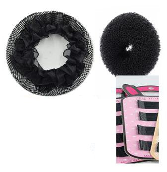 Black Hair Bun + Hair Net + Hair Pins designed for Ballerina