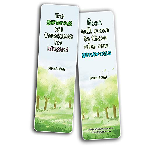 Bible Bookmarks for kids - Character Building Series 2 (30 Pack) - Well Designed for Kids with Easy To Memorize Bible Verses - VBS Sunday School Easter Baptism Thanksgiving Christmas Rewards