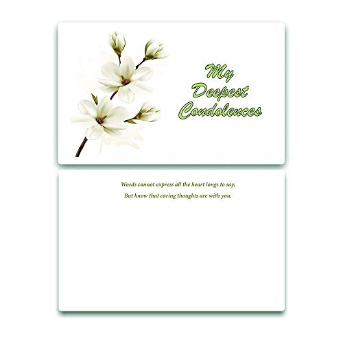 NewEights Sympathy Cards (Calming Design (12-Pack) Bulk Cards To Comfort Your Loved Ones and Friends In Their Deepest Need
