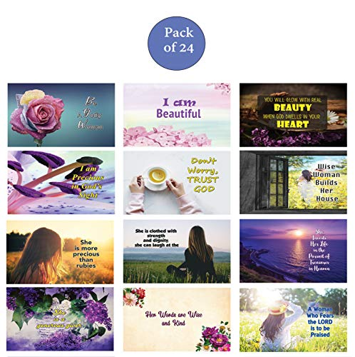 Christian Women Postcards Variety Pack NEPC1033+NEPC1034
