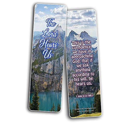 Scriptures Bookmarks - Bible Verses about Trusting God (30 Pack) - Well Designed and Easy To Memorize Bible Verses - Christmas Stocking Stuffers Birthday Assorted Bulk Pack