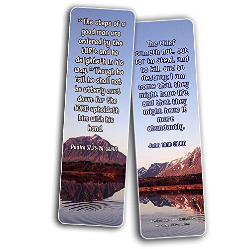 KJV Encouraging Scriptures for Those Overcoming Depression Bookmarks (30-Pack)
