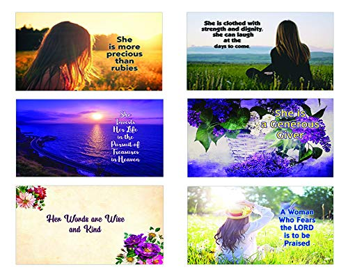 Bible Verses About Virtuous Woman Postcards
