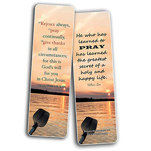 Prayer Cards Bookmarks (60-Pack) - Popular Bible Verses and Inspirational Quotes About Prayers - Holy Scriptures to Encourage Men Women Teens Boys Girls Kids