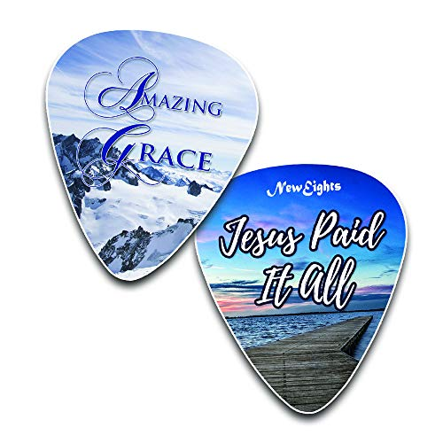 Jesus Loves Me Guitar Picks -12 Pack Celluloid Medium - Cool Acoustic and Electric guitar Accessories - Unique Gift for Men and Women Guitarists - Best Stocking Stuffers