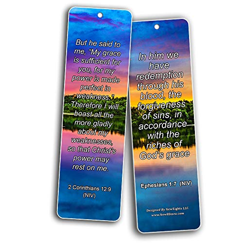 Bookmarks for Bible Verses About Grace NIV (30 Pack) - Handy Reminder Book marker About God?s Grace
