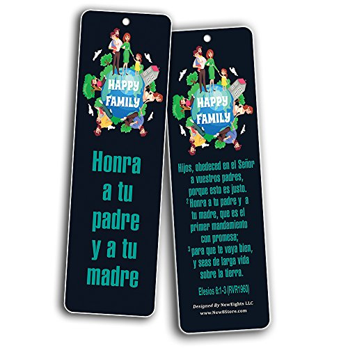 Spanish Bible Verses Bookmarks for Kids (60-Pack) - Character Building Marcap ginas Cristiano - Great Christian Gifts for Easter Baptism Thanksgiving Christmas - Prayer Cards - War Room Decor
