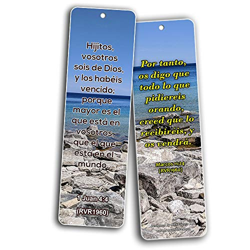 SPANISH RELIGIOUS BIBLE QUOTES BOOKMARKS FOR DOING THE IMPOSSIBLE (RVR1960) (60-Pack) - Handy Spanish Bible Verses About Doing The Impossible Collection