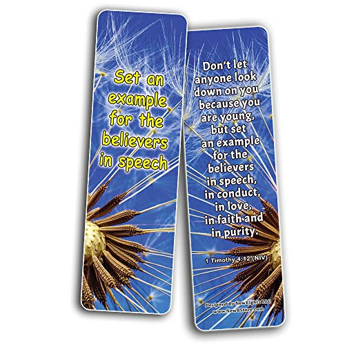 Popular Bible Verses for Teenage Girls Bookmarks (12-Pack)