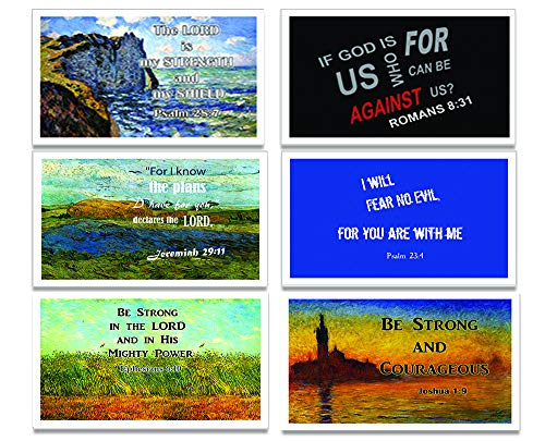 Assorted Christian Postcards Series 1- NEPC1007 x 2 sets & NEPC1005 X 2 sets (24-Pack) - Variety Encouraging postcards