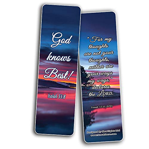Seek God's Plan Memory Verses Bookmarks