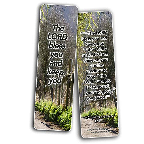Powerful Bible Verses Bookmarks - Blessings (60 Pack) - Perfect Giveaways for Sunday School and Ministries Designed to Inspire Women and Men