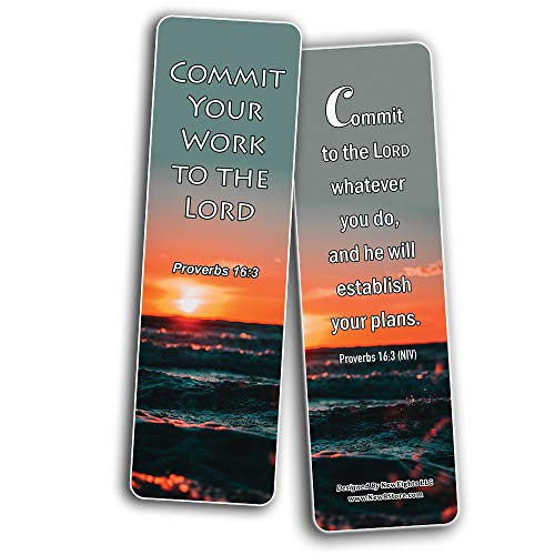 The Power of Blessing Bible Bookmarks (30-Pack) - Handy Christian Daily Reminder About Putting God First