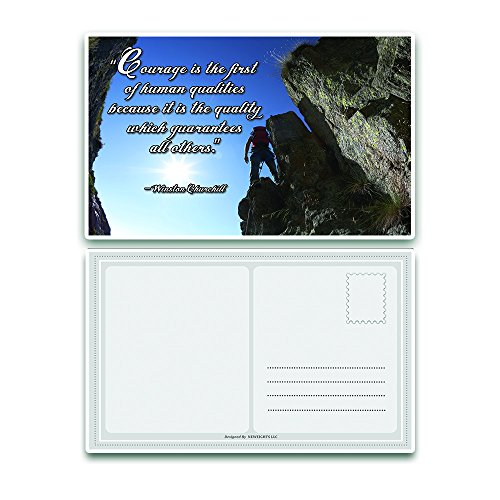 Inspiring quote A6 postcards set for Postcrossing cute postcard for a penpal Two Postcards in a set cozy and warm greeting birthday cards