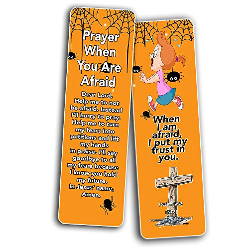 Children's Prayers Bookmarks (30 Pack) - Handy Sample Prayer for Kids To Learn and Memorize