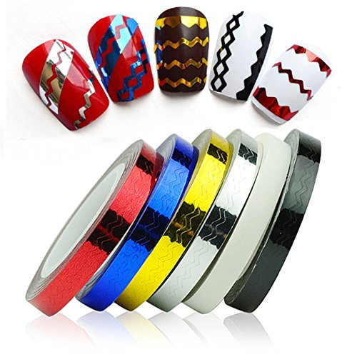 New8Beauty Nail Striping Tape 6-Pack
