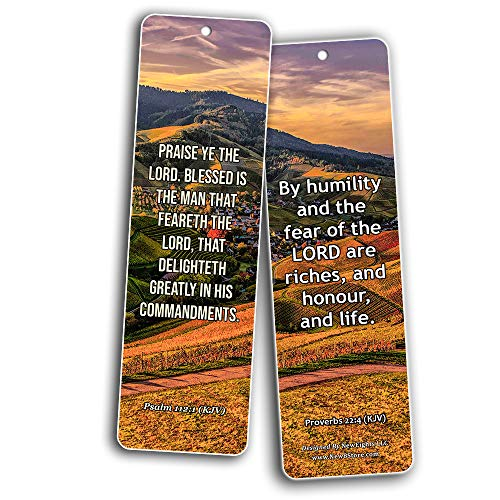 KJV Scriptures Bookmarks - Fear of The Lord (30-Pack) - Great Bible Text Compilation that is Handy and Easy To Bring Along With