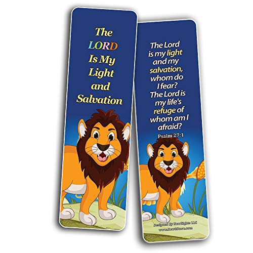 Encouraging Bible Verses Bookmarks for Kids (30-Pack) - Animal Series 1 - Animal Theme Bookmarks for Kids That Come with Inspiring Bible Texts