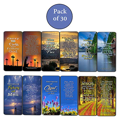 Scriptures Cards Bookmarks on The Importance of Discipleship