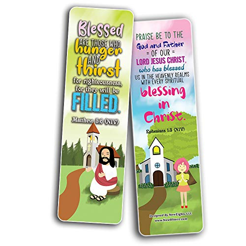 God's Blessing Christian Living Bookmarks (30-Pack) - Stocking Stuffers for Boys Girls - Children Ministry Bible Study Church Supplies Teacher Classroom Incentives Gift
