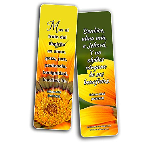 Spanish Christian Faith Scripture Bookmarks RVR1960