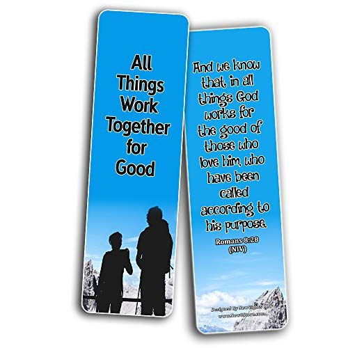Inspiring Bible Verses Bookmarks (30-Pack) - Life Changing Scriptures - Basket Stuffers for Good Friday Easter Thanksgiving Christmas - Cell Group Church Supplies for Men Women Teens Kids