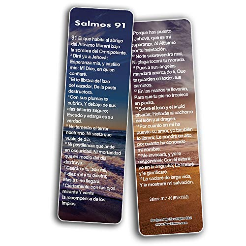 Spanish Psalm 91 Bookmarks Cards RVR1960