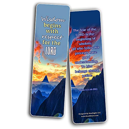 Scriptures Cards Bookmarks About Wisdom and Discernment (60 Pack) - Bible Verses About What Does the Bible Say About Discernment