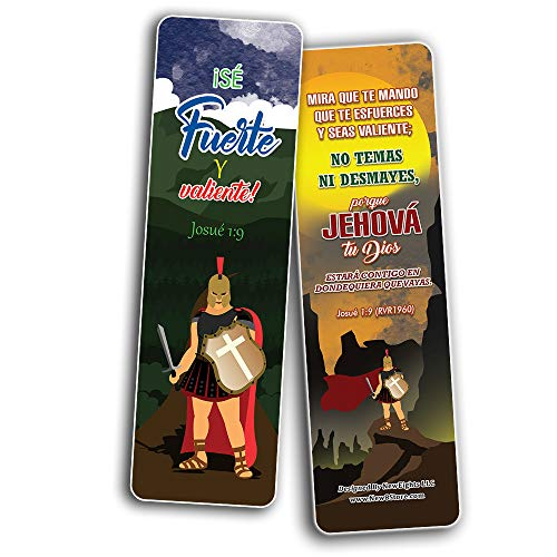 Spanish Armadura de Dios Armor of God Bookmarks (30-Pack) - Stocking Stuffers for Men & Women - Bible Study Church Supplies Teacher Classroom Incentives Gift