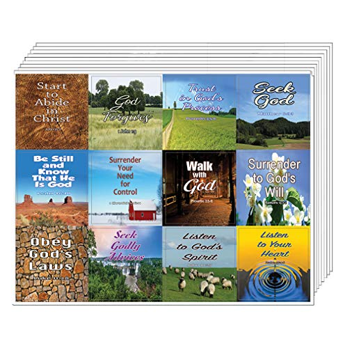 God?s Will for Your Life Christian Stickers (20 Sheets) - Assorted Mega Pack of Religious Inspirational Stickers - Proverbs 3:5-6 Church Supplies Sunday School VBS Bible Study Teacher Student Gifts