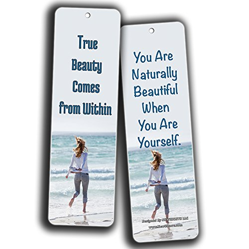 NewEights Beauty Quotes about Women Bookmarks (60 Pack)