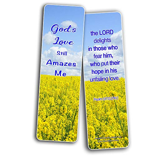 Hope in God Bible Bookmarks (30 Pack) - Handy Reminder To Put Our Hope In God Alone