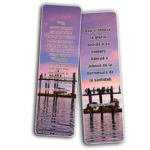 Spanish Worship Bible Verses Bookmarks