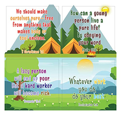 Christian Character Building Stickers for Kids Series 2 (20 Sheets) - Assorted Mega Pack of Inspirational Stickers