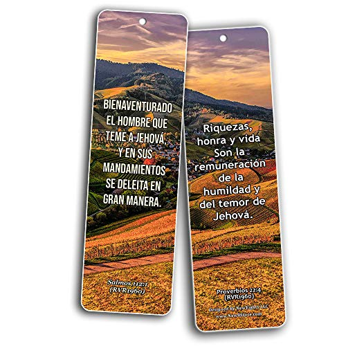 Spanish Scriptures Bookmarks - Fear of The Lord (30-Pack) - Great Spanish Bible Text Compilation that is Handy and Easy To Bring Along With