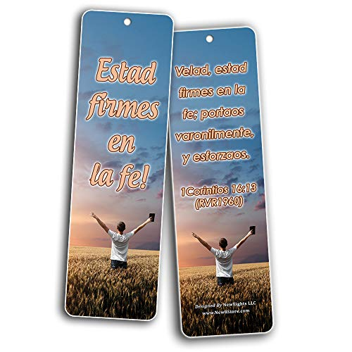 Spanish Popular Bible Verses (Be Strong & Courageous) Bookmarks (30-Pack) - Handy Compilation of Biblical Texts in Spanish Language