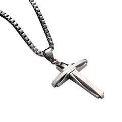 NewEights Stainless Steel Cross Necklace