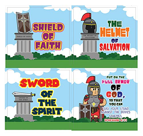 Armor of God Stickers Series 2 (10-Sheet) - VBS Sunday School Easter Baptism Thanksgiving Christmas Rewards Encouragement Gift