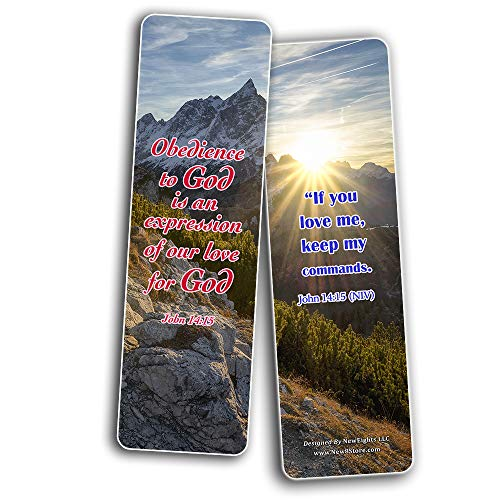 Bible Verses about Priorities In Life NIV Bookmarks (60 Pack) - Perfect Gift away for Sunday Schools