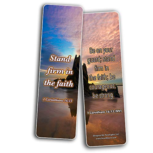 Bible Verses about Courage Bookmarks (60-Pack)