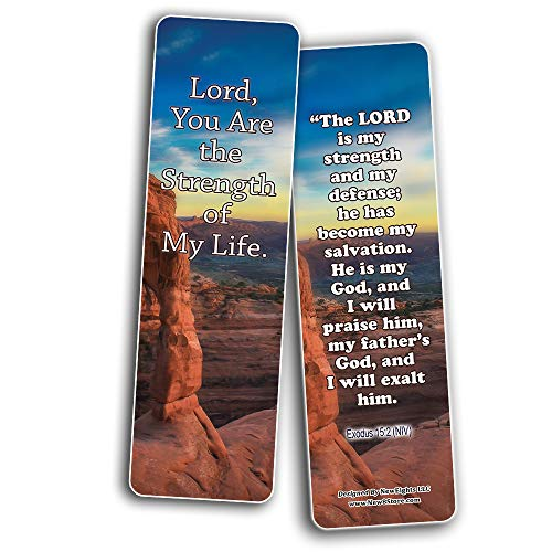 God Is My Strength Bible Bookmarks