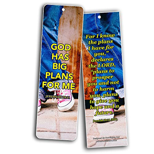 Encouraging Bible Verses For Teens Bookmarks (60 Pack) - Perfect Giveaways for Sunday School For Teens