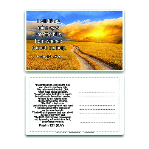 Religious Postcards (30-Pack) - Psalms KJV Psalm 91 46 118 121 139 144 - Bulk Collection & Gift with Inspirational, Motivational, Encouragement Messages